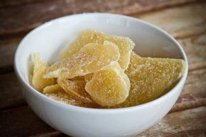 Корень имбиря в сахаре