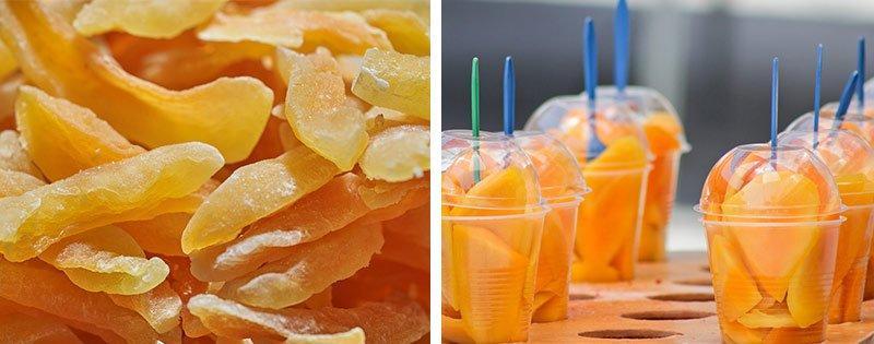 Заготовка плодов манго
