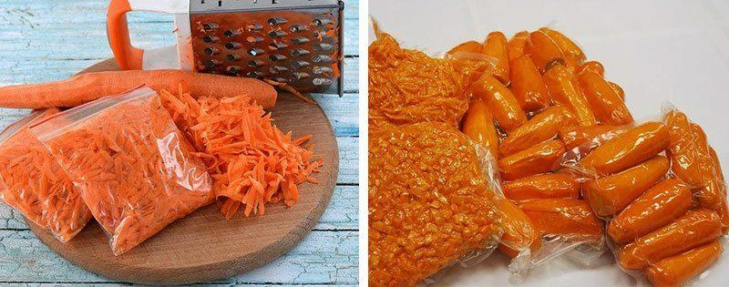 Очищенная морковь
