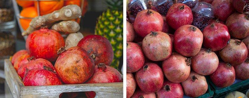 Плоды граната в ящиках