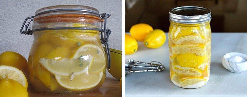 Дольки лимонов в банке