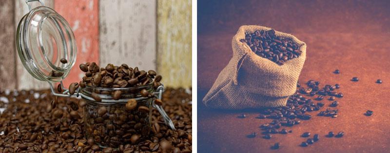 Кофе в банке и в мешке
