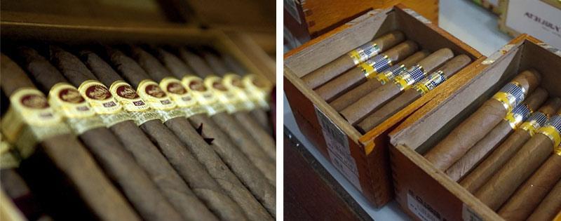 Сигары в коробках