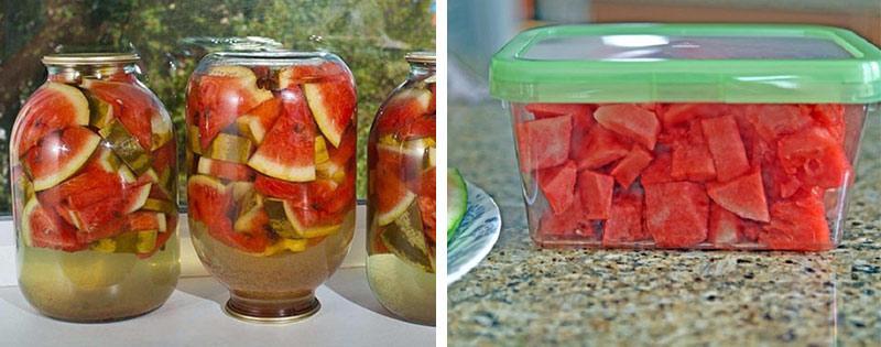 Хранение и консервация арбузов
