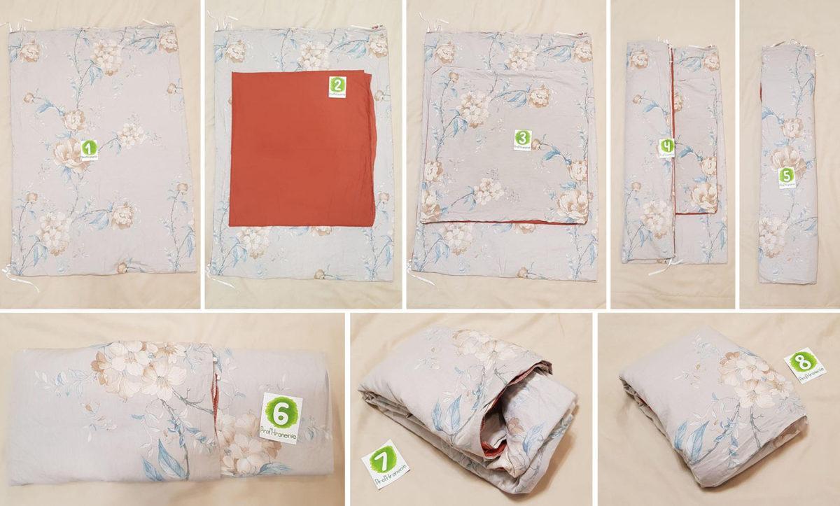 Складывание постельного белья в кармашек
