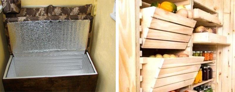 Ящик для овощей на балконе