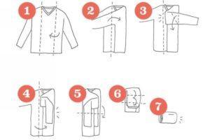 Метод складывания рубашки от Мари Кондо