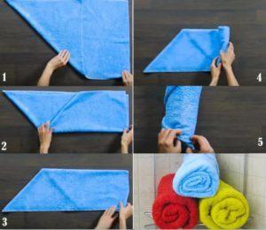 Как сложить полотенце