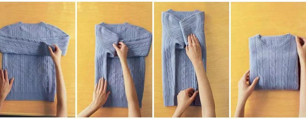 Складывание свитера