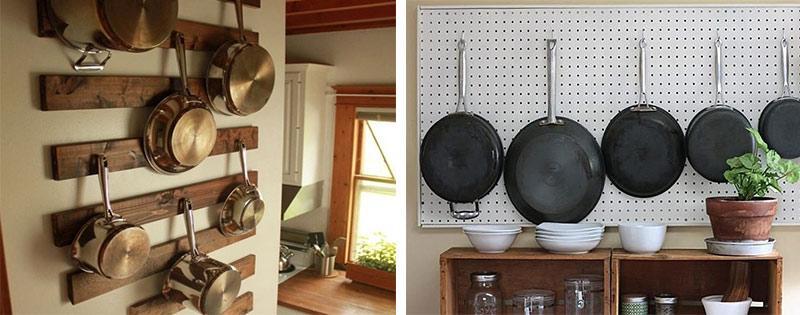 Сковородки на крючках