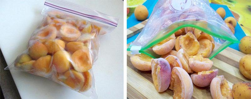 Заморозка абрикосов