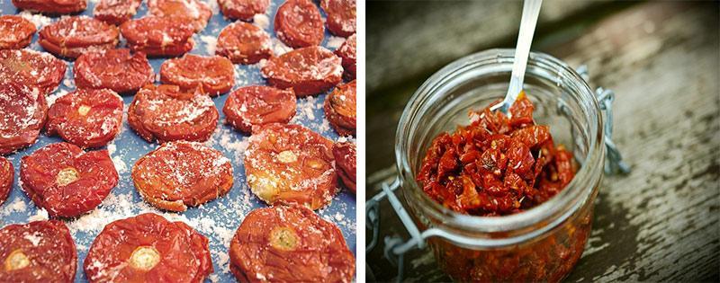 Хранение сушеных помидоров
