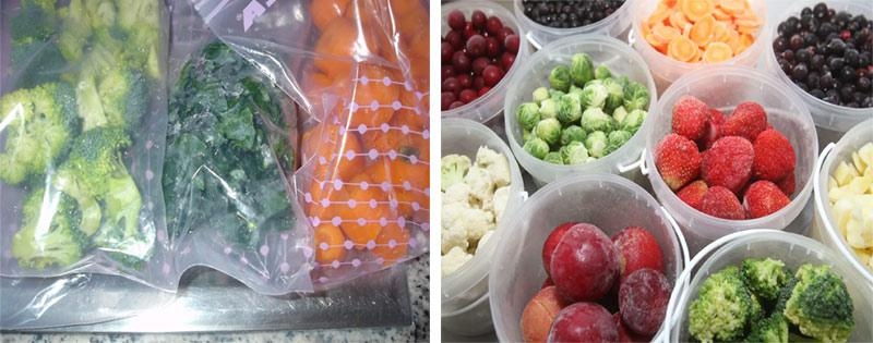 Овощи и фрукты замороженные