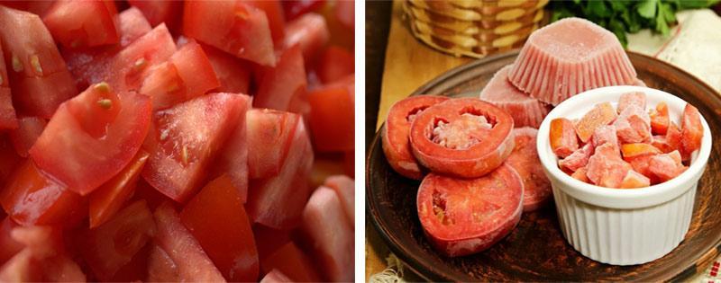 Заморозка и хранение помидоров