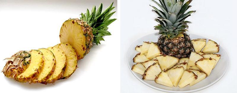 Заморозка нарезанного ананаса
