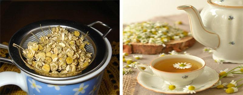 Чай из сушеной ромашки