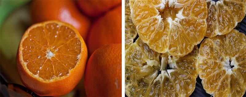 Процесс сушки апельсинов