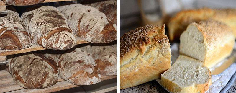 Заморозка батонов хлеба