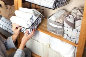Складывание полотенец Мари Кондо